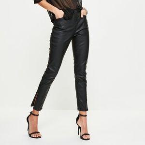 Women's NEW Black Faux Leather Pants, Size 4